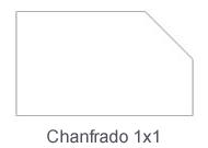 Chanfrado 1x1