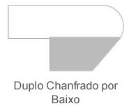 Duplo Chanfrado por Baixo